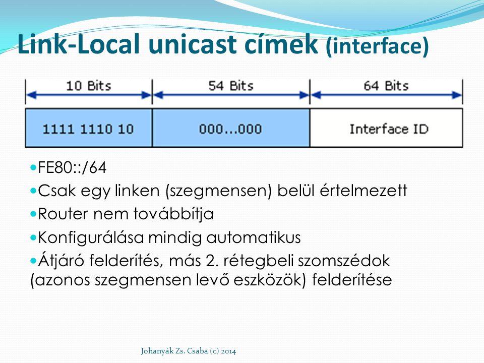 Link-Local unicast címek (interface)