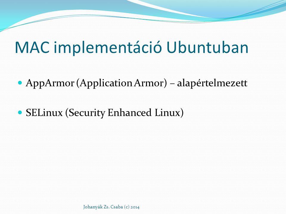 MAC implementáció Ubuntuban