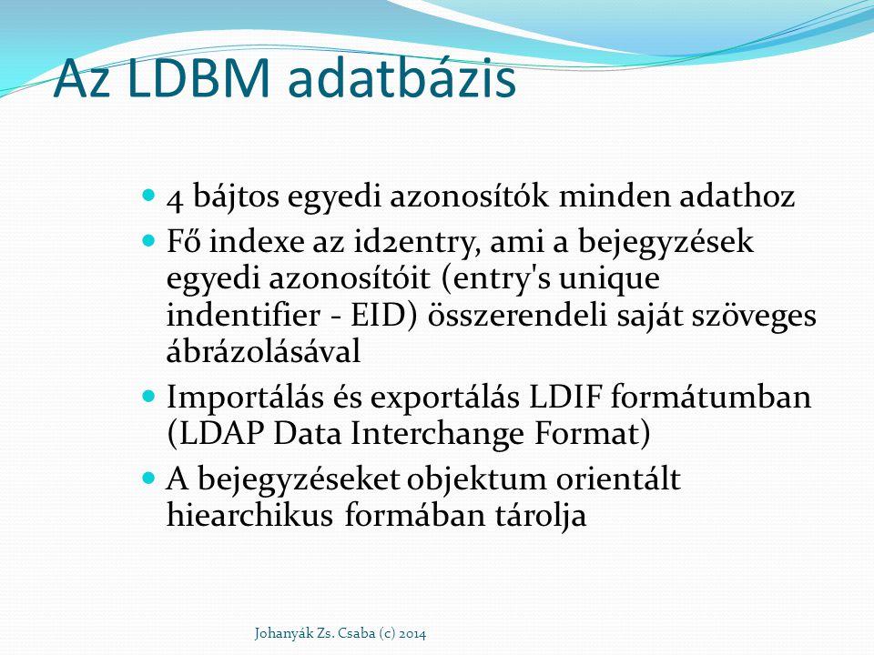 Az LDBM adatbázis 4 bájtos egyedi azonosítók minden adathoz
