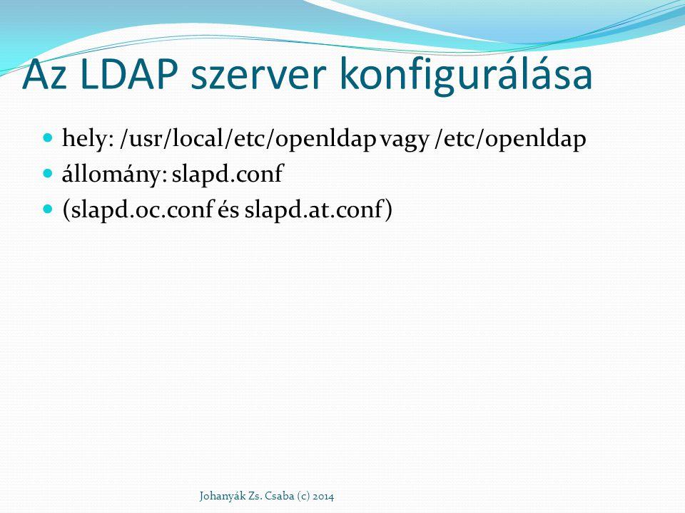 Az LDAP szerver konfigurálása