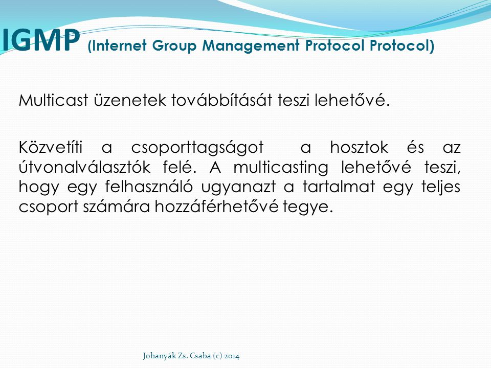 IGMP (Internet Group Management Protocol Protocol)