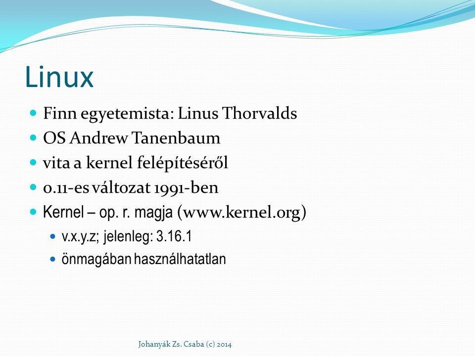 Linux Finn egyetemista: Linus Thorvalds OS Andrew Tanenbaum