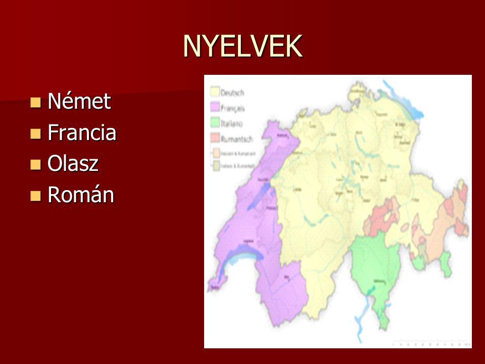 NYELVEK Német Francia Olasz Román