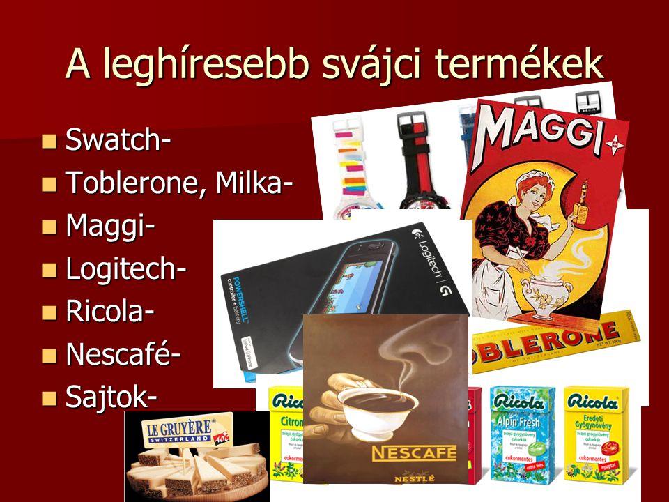 A leghíresebb svájci termékek