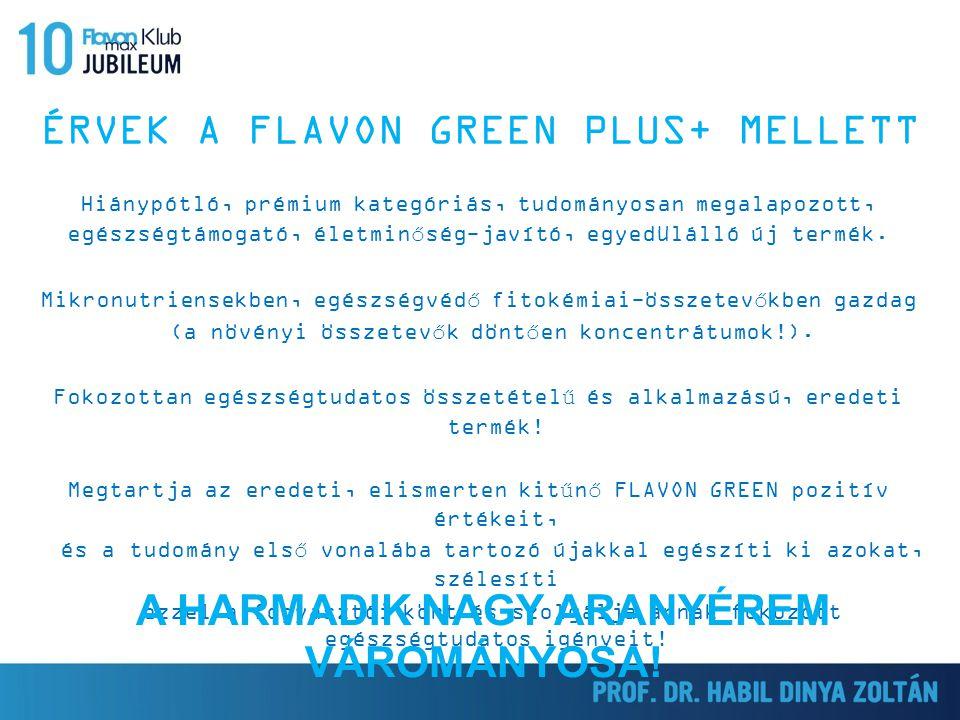 ÉRVEK A FLAVON GREEN PLUS+ MELLETT