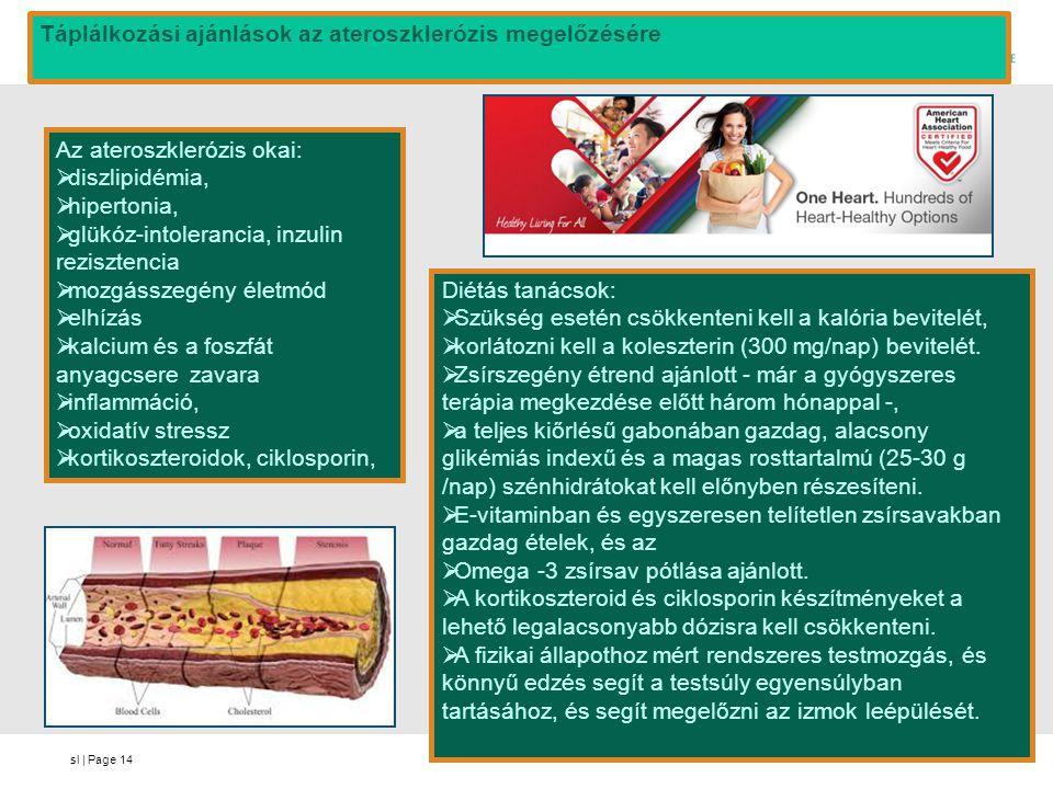 Táplálkozási ajánlások az ateroszklerózis megelőzésére