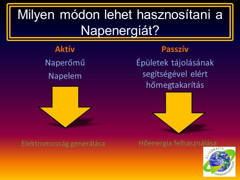 Milyen módon lehet hasznosítani a Napenergiát