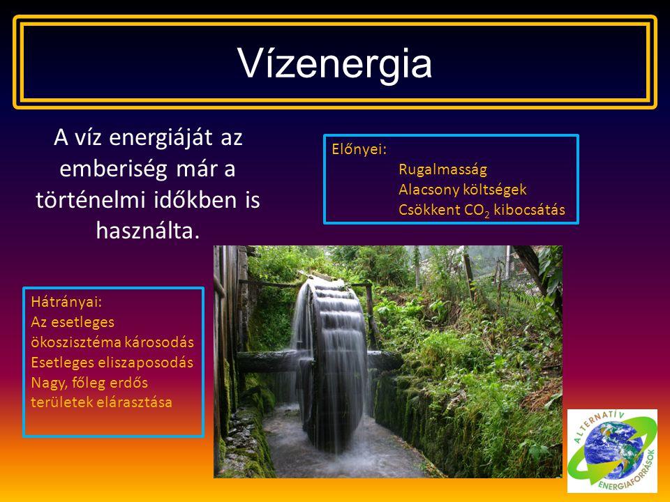 A víz energiáját az emberiség már a történelmi időkben is használta.