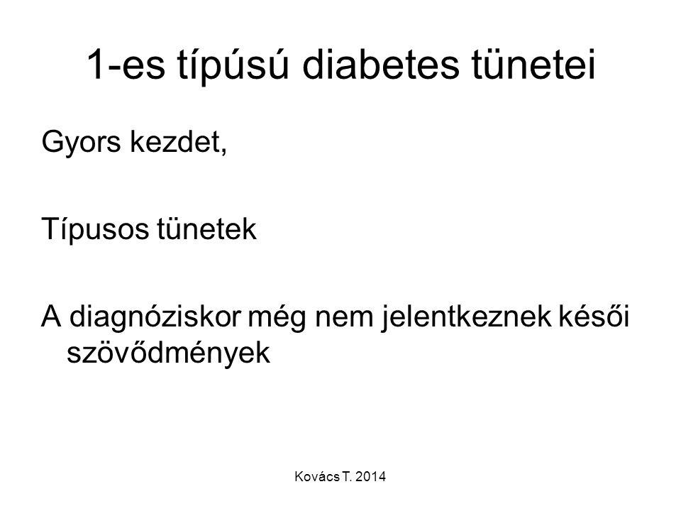 1-es típúsú diabetes tünetei