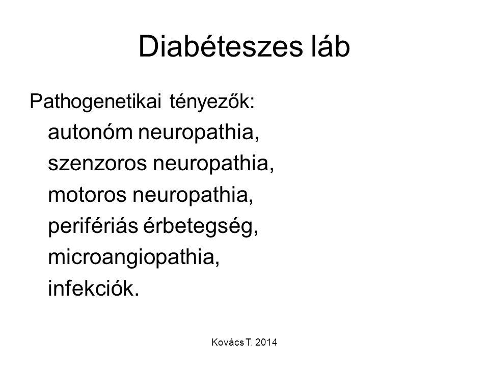 Diabéteszes láb autonóm neuropathia, szenzoros neuropathia,