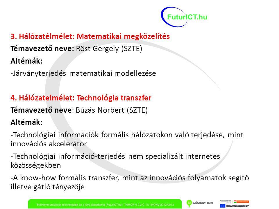 3. Hálózatélmélet: Matematikai megközelítés