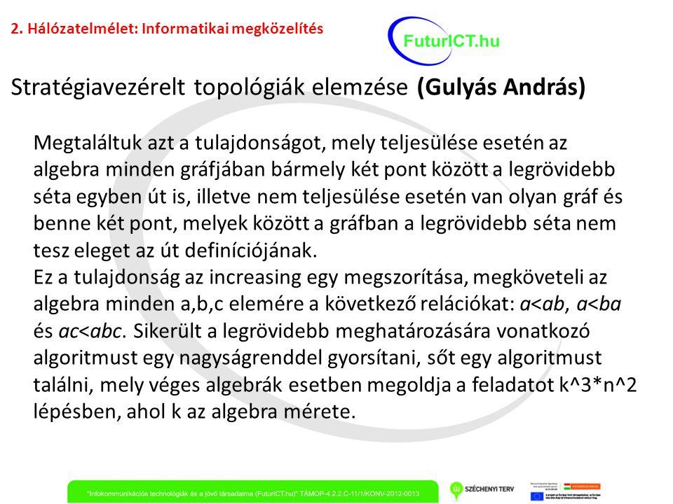 Stratégiavezérelt topológiák elemzése (Gulyás András)