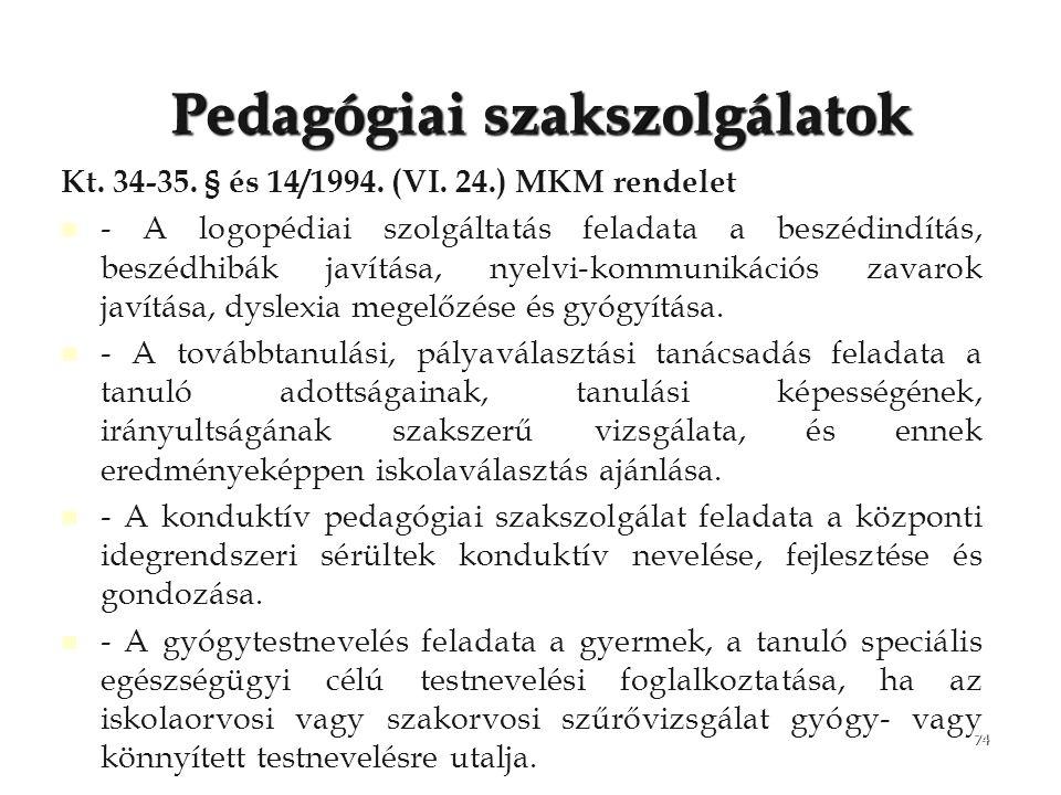 Pedagógiai szakszolgálatok