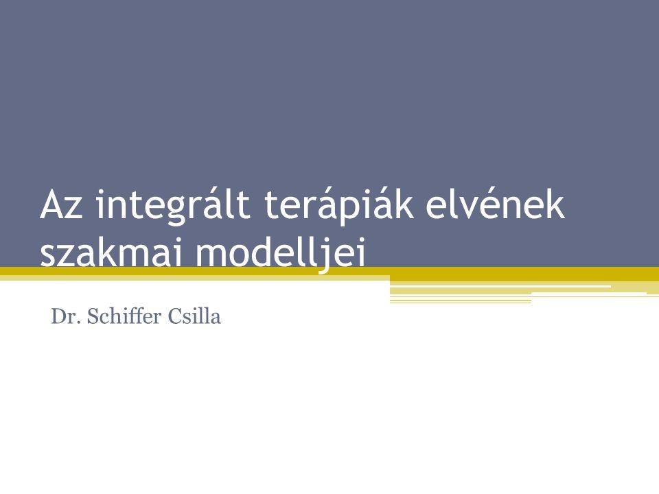 Az integrált terápiák elvének szakmai modelljei