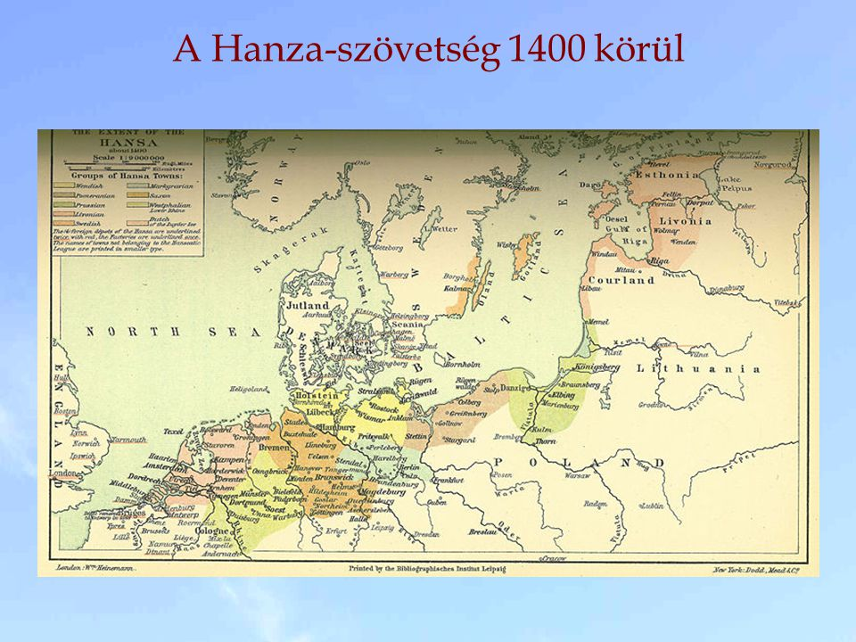A Hanza-szövetség 1400 körül