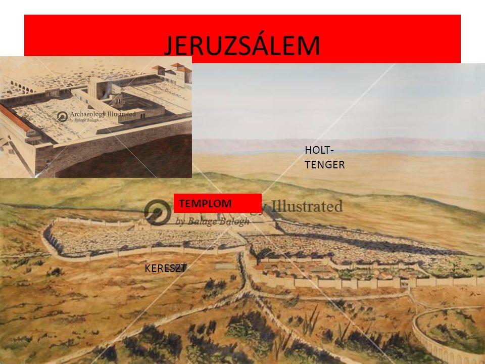 JERUZSÁLEM HOLT-TENGER TEMPLOM KERESZT