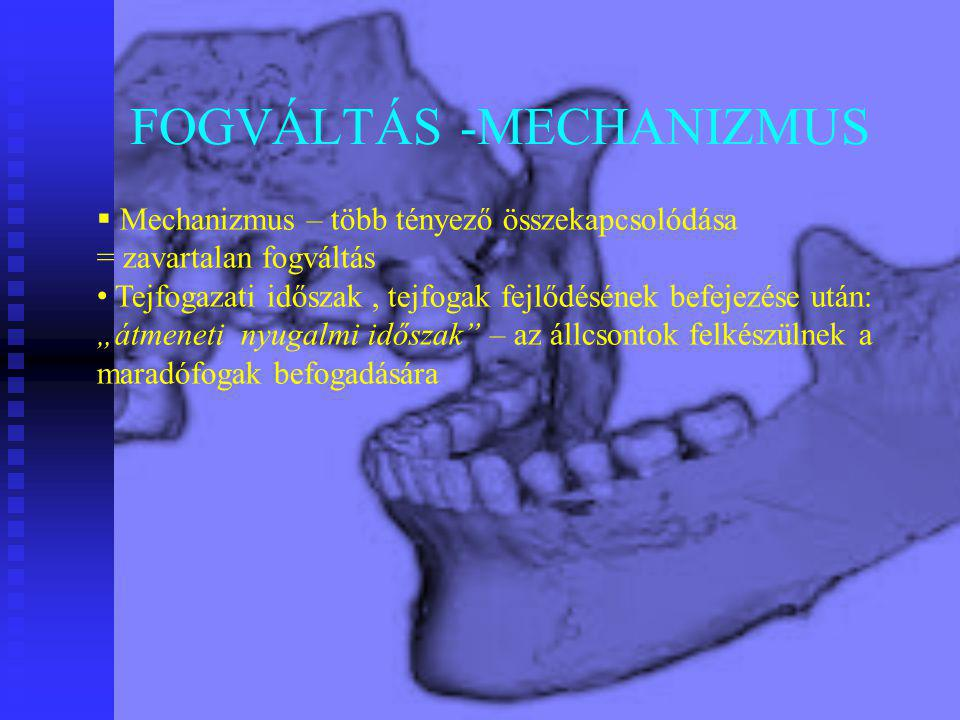 FOGVÁLTÁS -MECHANIZMUS