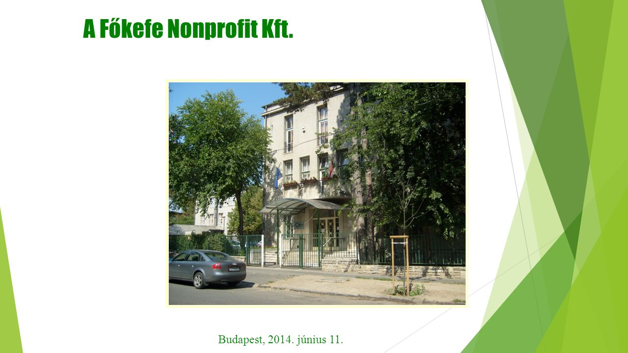 A Főkefe Nonprofit Kft. Budapest, 2014. június 11.
