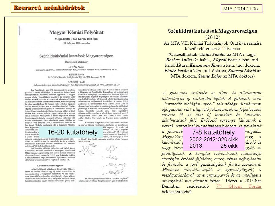 Szénhidrát kutatások Magyarországon