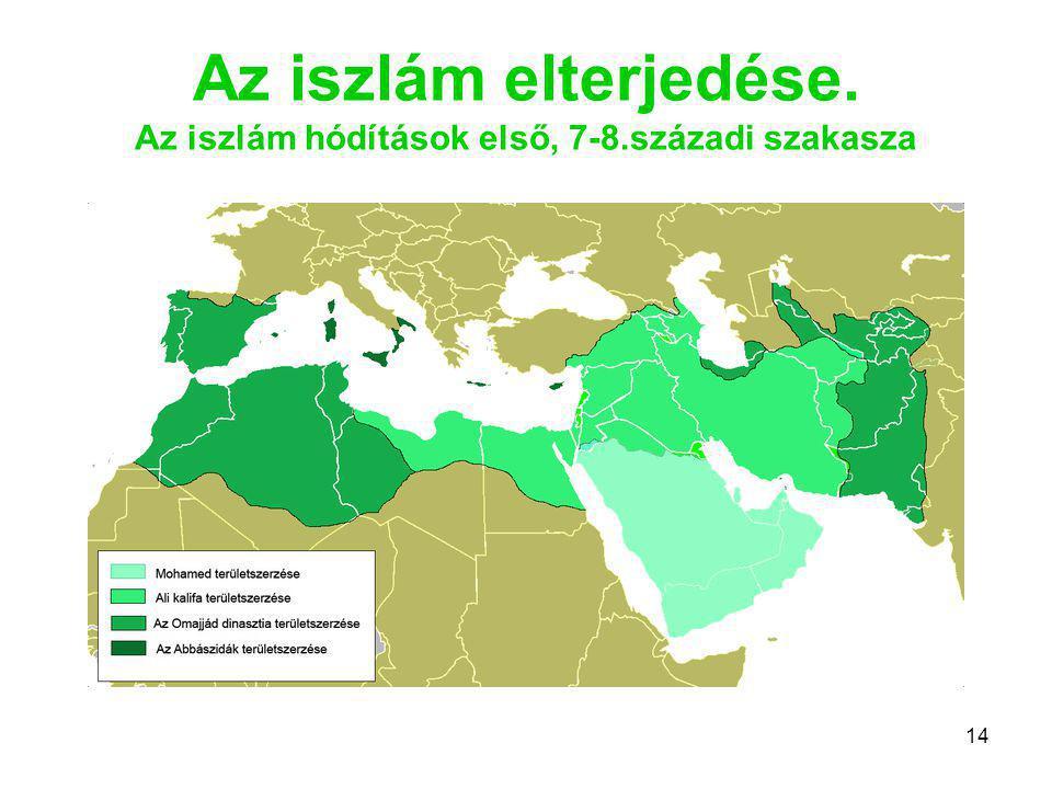 Az iszlám elterjedése. Az iszlám hódítások első, 7-8.századi szakasza