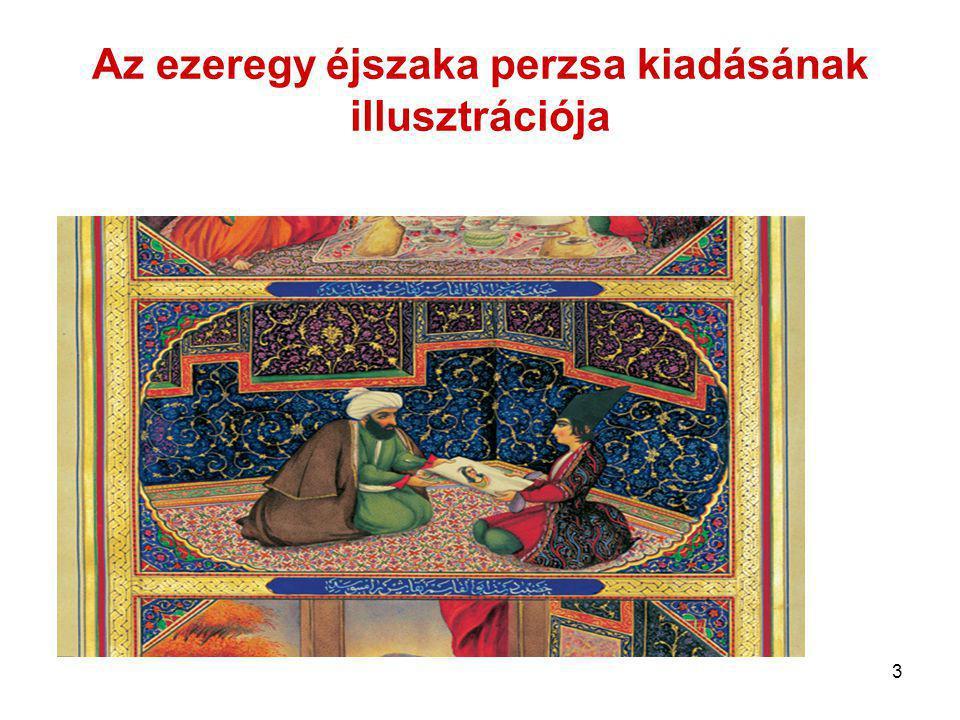 Az ezeregy éjszaka perzsa kiadásának illusztrációja