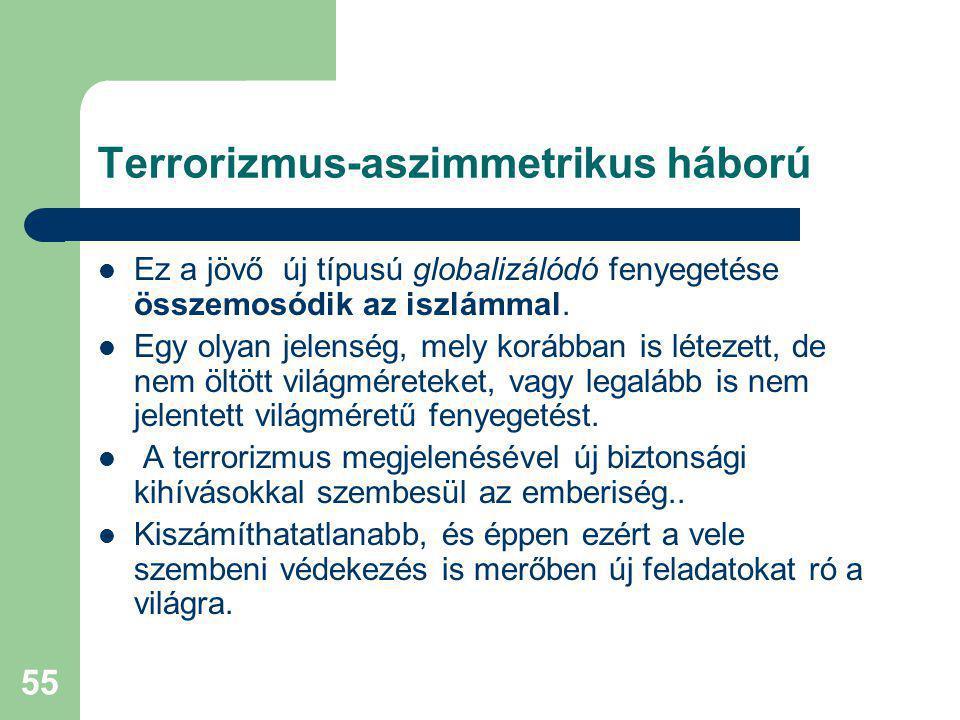 Terrorizmus-aszimmetrikus háború