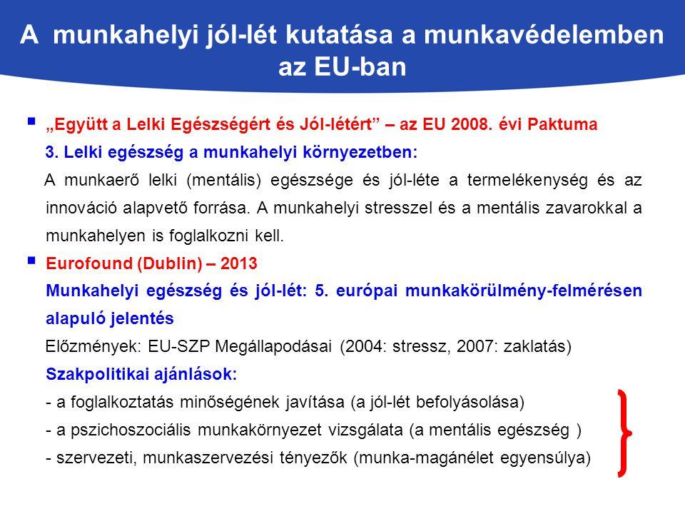 A munkahelyi jól-lét kutatása a munkavédelemben az EU-ban
