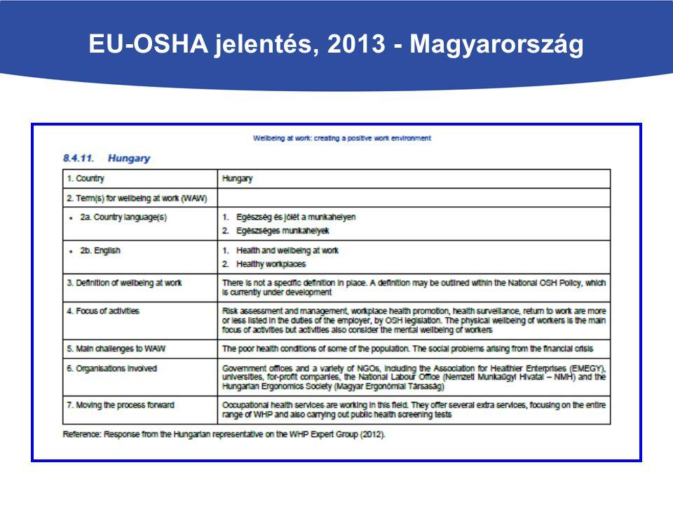 EU-OSHA jelentés, 2013 - Magyarország