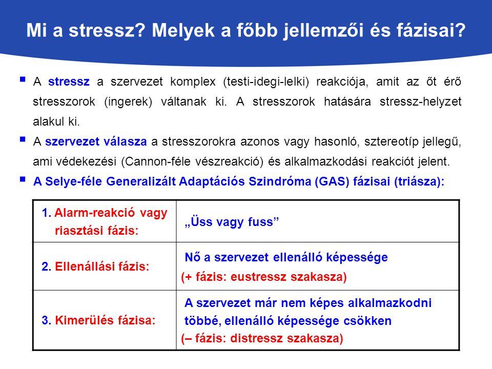 Mi a stressz Melyek a főbb jellemzői és fázisai
