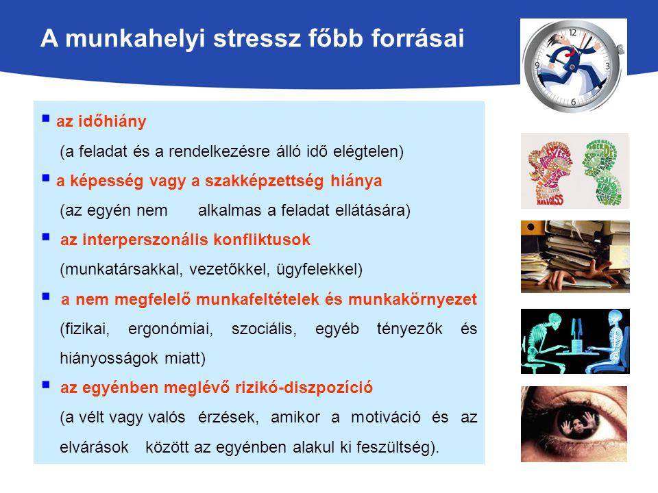 A munkahelyi stressz főbb forrásai