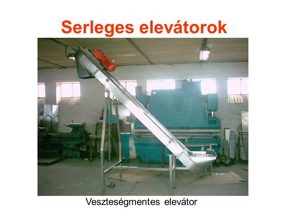 Serleges elevátorok Veszteségmentes elevátor