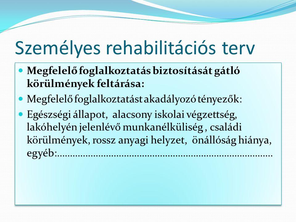 Személyes rehabilitációs terv