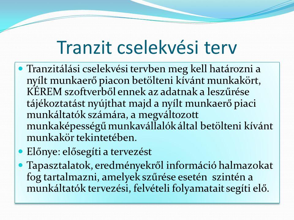 Tranzit cselekvési terv