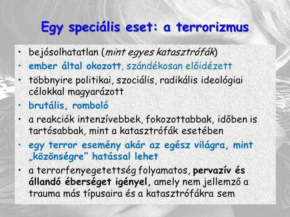 Egy speciális eset: a terrorizmus