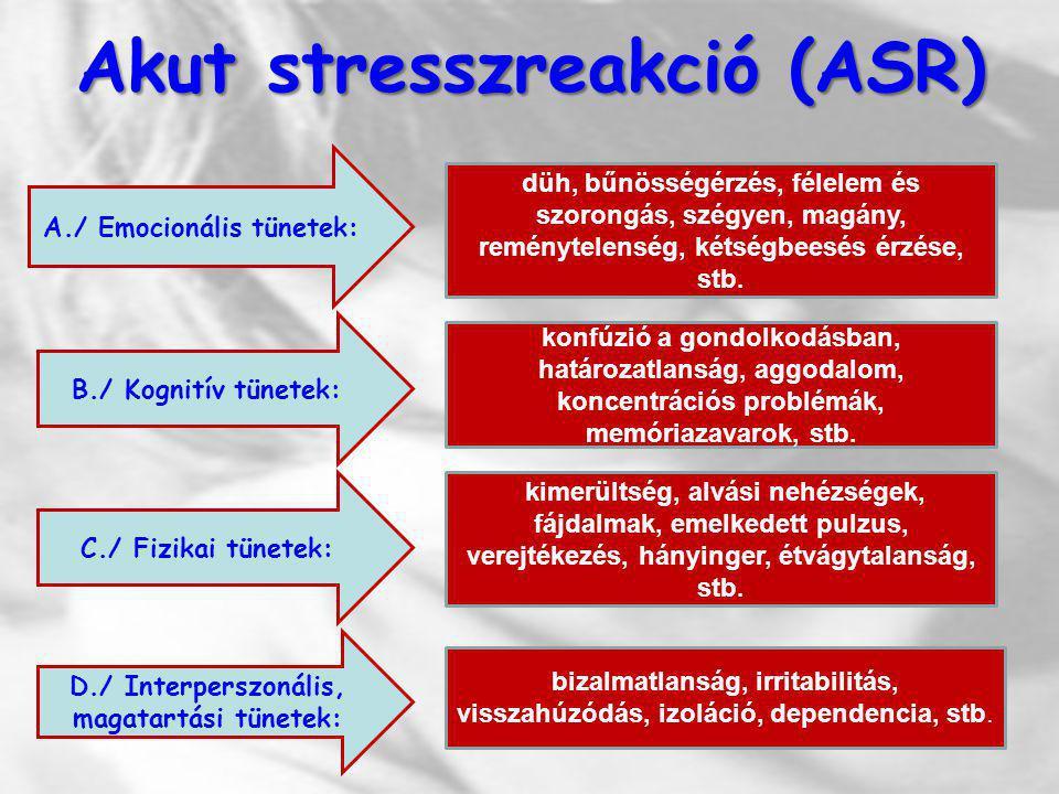 Akut stresszreakció (ASR)