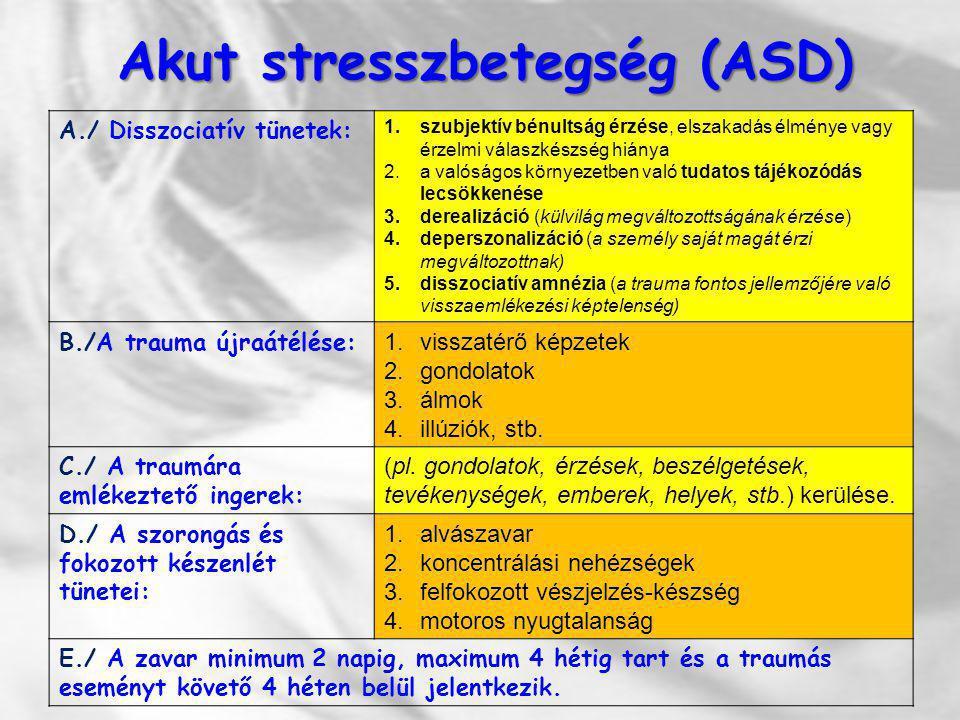 Akut stresszbetegség (ASD)