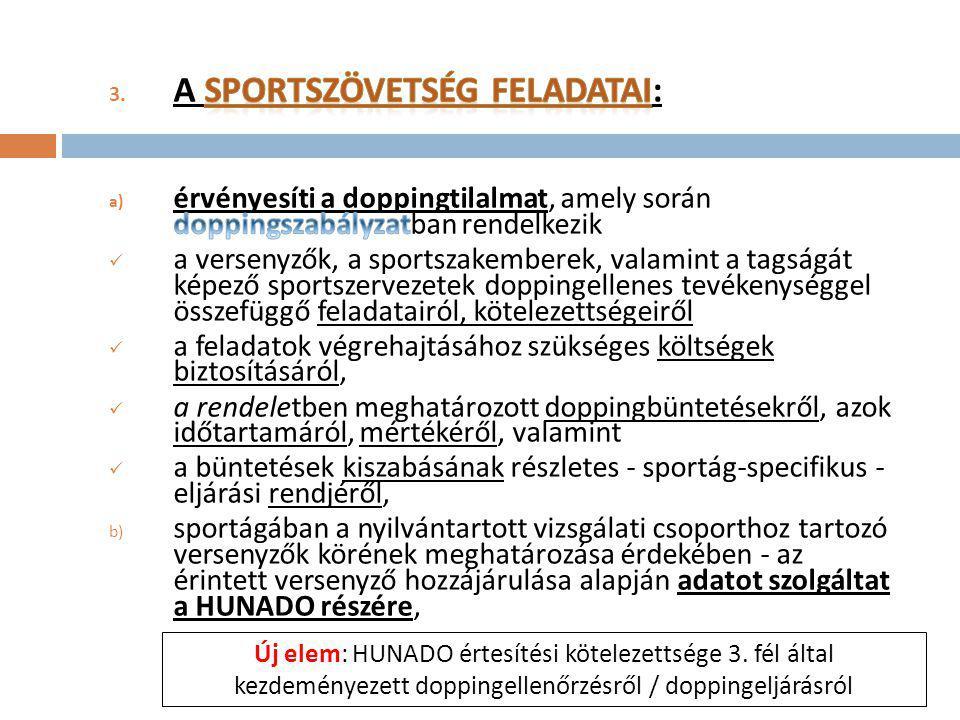 A Sportszövetség feladatai: