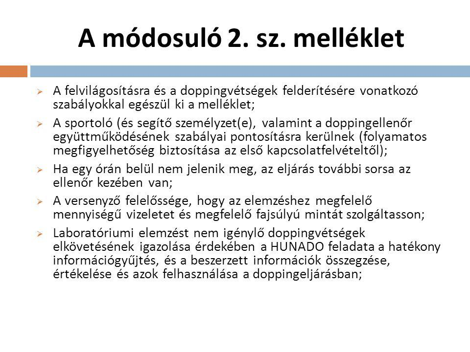 A módosuló 2. sz. melléklet