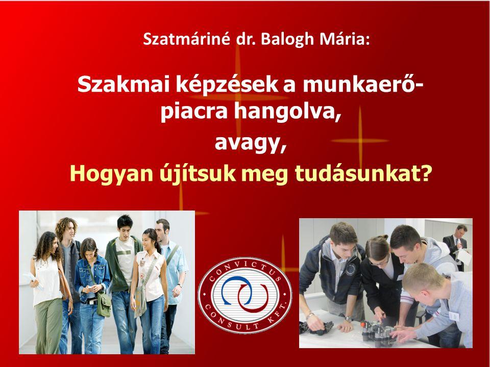 Szatmáriné dr. Balogh Mária: