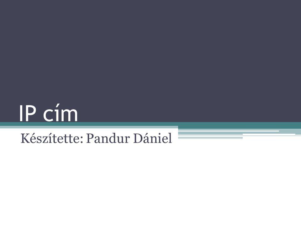 Készítette: Pandur Dániel