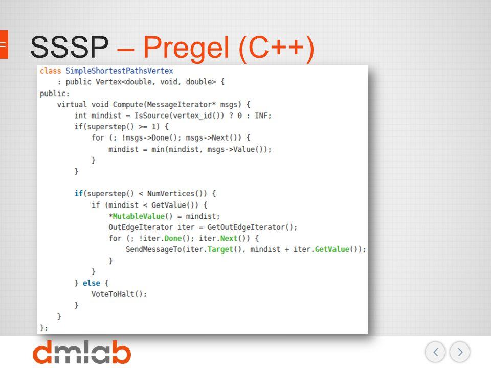 SSSP – Pregel (C++)