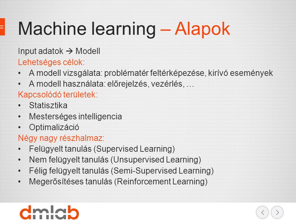 Machine learning – Alapok