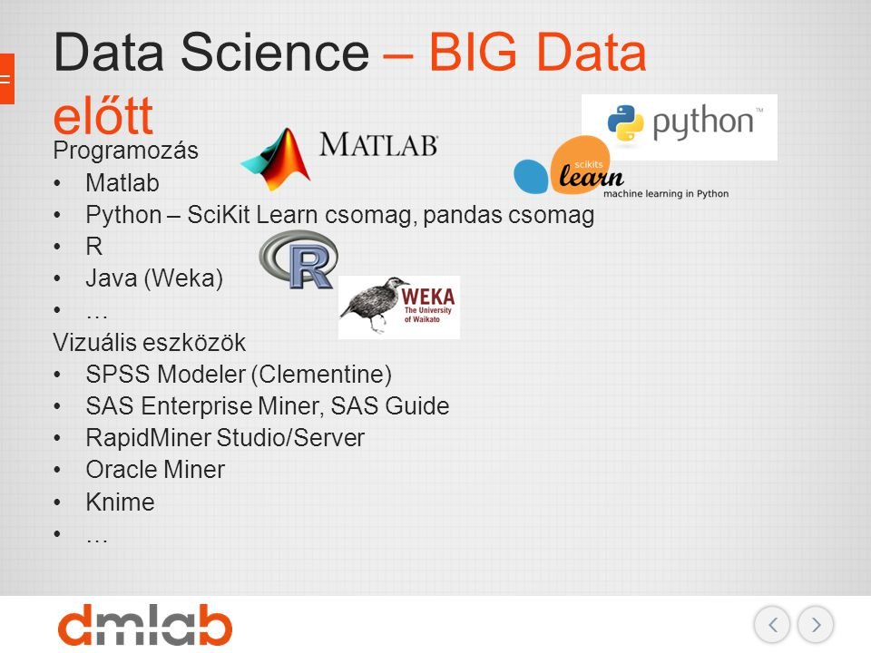 Data Science – BIG Data előtt