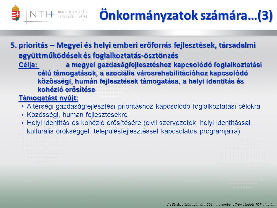 Önkormányzatok számára…(3)