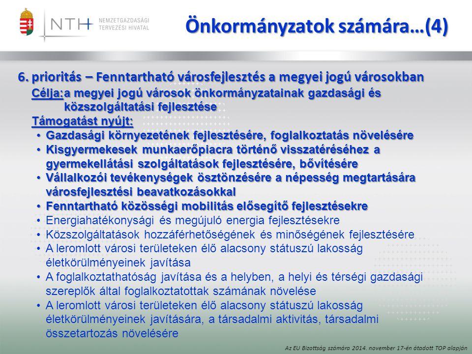 Önkormányzatok számára…(4)
