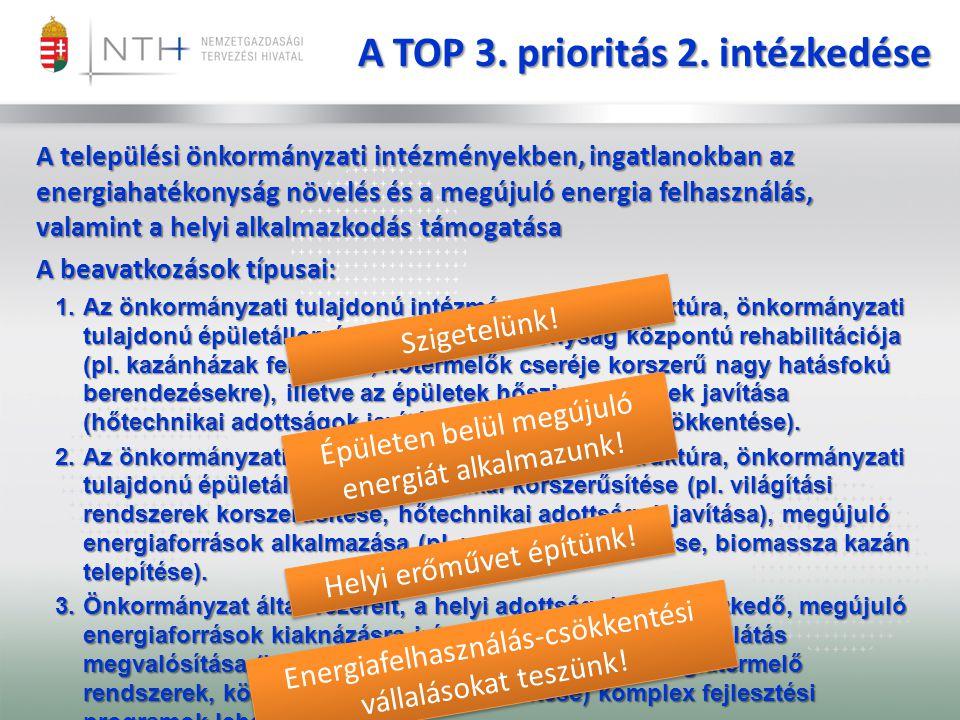 A TOP 3. prioritás 2. intézkedése