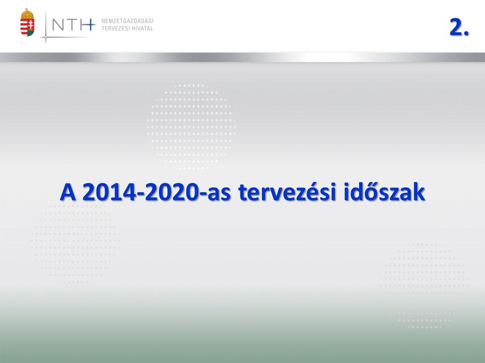 A 2014-2020-as tervezési időszak