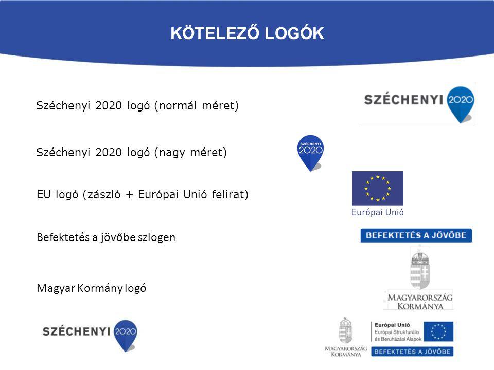 Kötelező logók Befektetés a jövőbe szlogen Magyar Kormány logó