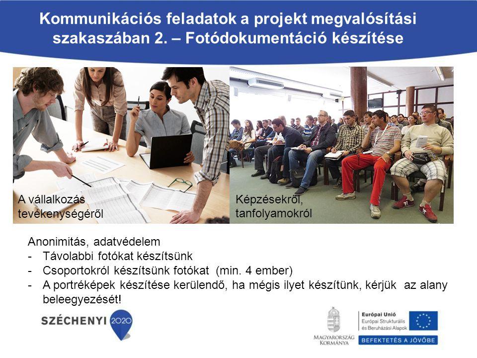 Kommunikációs feladatok a projekt megvalósítási szakaszában 2