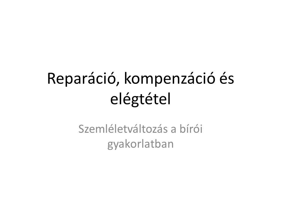 Reparáció, kompenzáció és elégtétel